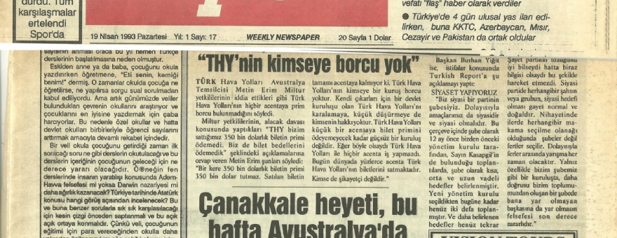 Report Turkish 10.04.1993